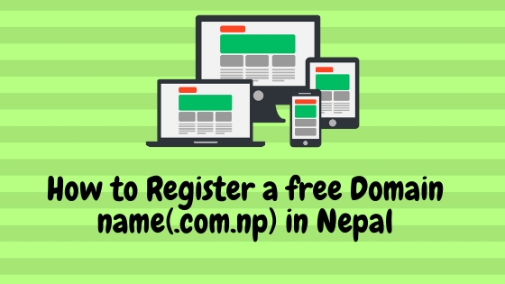 How to register a free domain name in Nepal